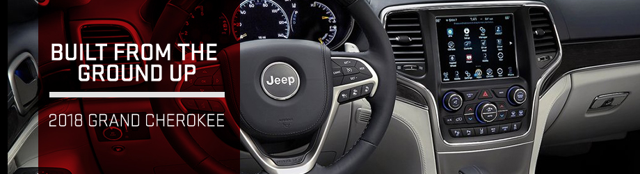 Safety features and interior of the 2018 Jeep Grand Cherokee - available at Bob Moore Chrysler Dodge Jeep RAM near Yukon and Oklahoma City, OK