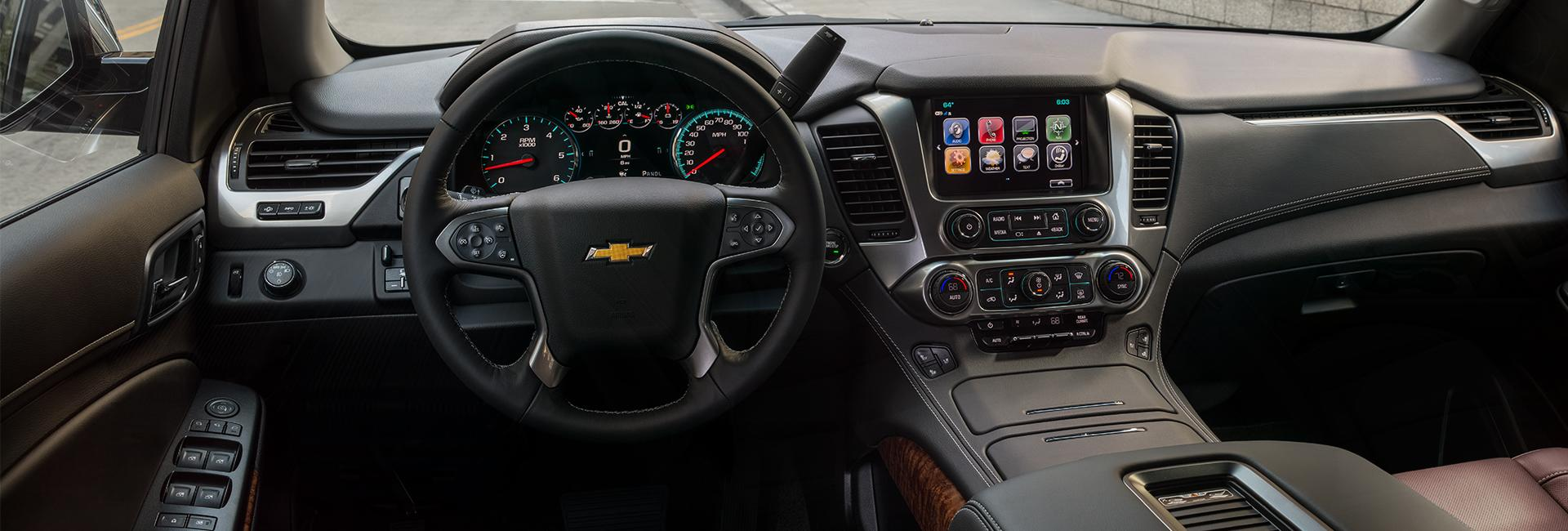 Picture of the interior of the 2020 Chevy Tahoe at Spitzer Chevy Lordstown.