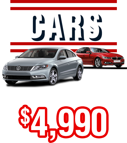 Cars From Only $4,990
