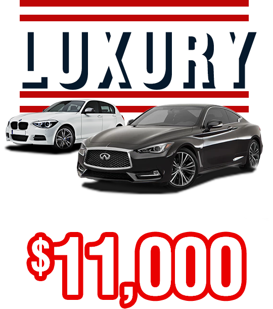 Luxury From Only $11,000