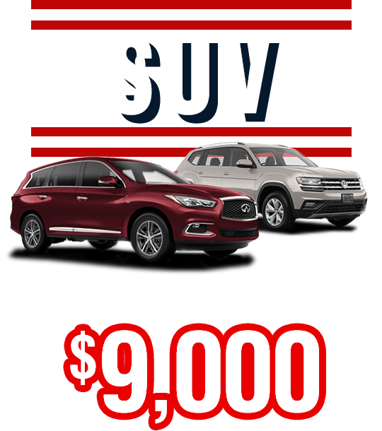SUV From Only $9,000