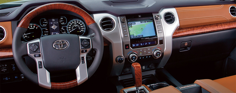 Safety features and interior of the 2019 Toyota Tundra - available at our Toyota dealership near Hollywood & Pembroke Pines