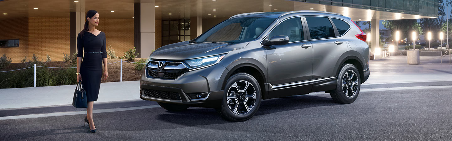 2019 Honda CR-V parked in the city