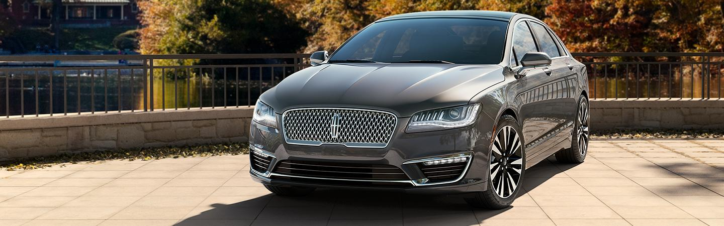 Front view of a silver 2020 Lincoln MKZ