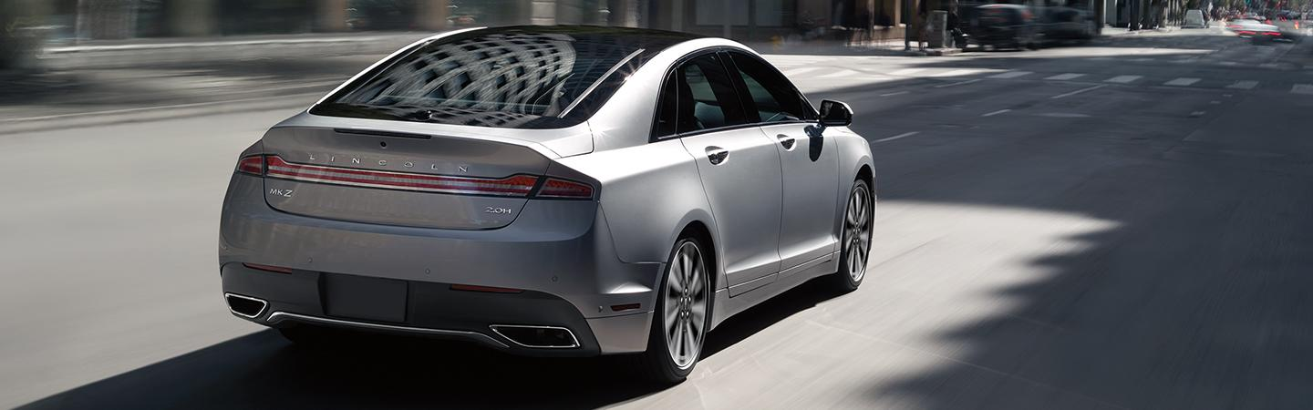 Rear view of a 2020 Lincoln MKZ