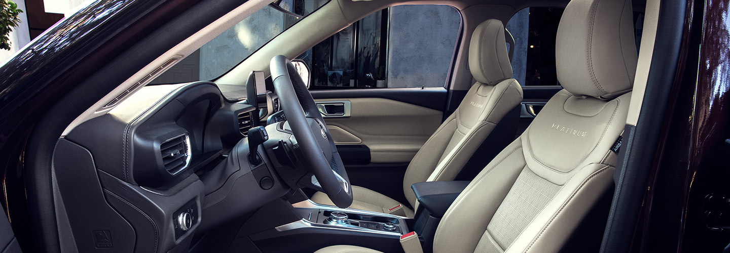 Interior of the 2020 Ford Explorer available at our Kalamazoo car dealership