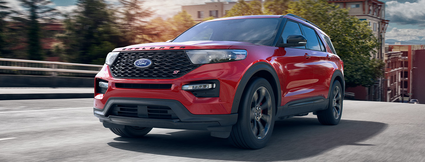 Exterior of the 2020 Ford Explorer available at Zeigler Plainwell Ford.