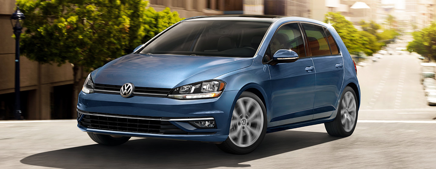2019 VW Golf Exterior - Front End - Driving on the road.