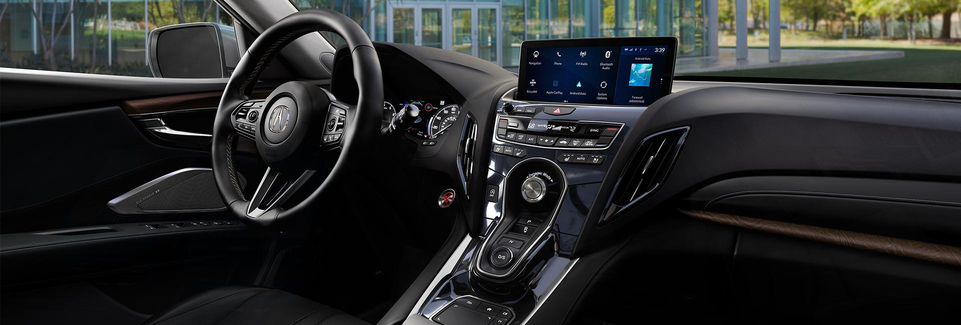Picture of the interior of the 2020 Acura RDX for sale at Spitzer Acura