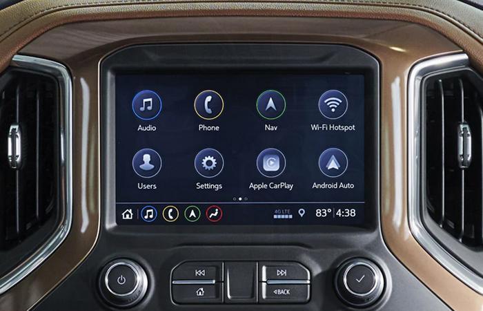 2021 Chevy Silverado 1500 LCD in the dashboard