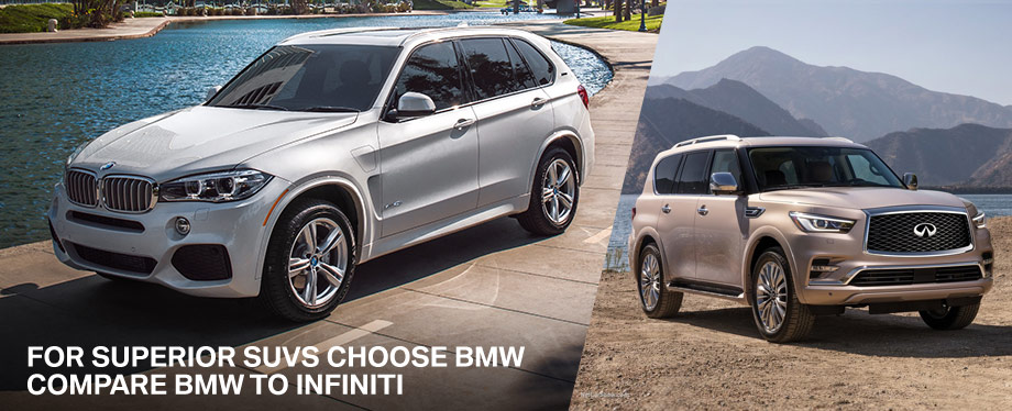2018 BMW X5 SUV Comparison INFINITI BMW of Sarasota Florida