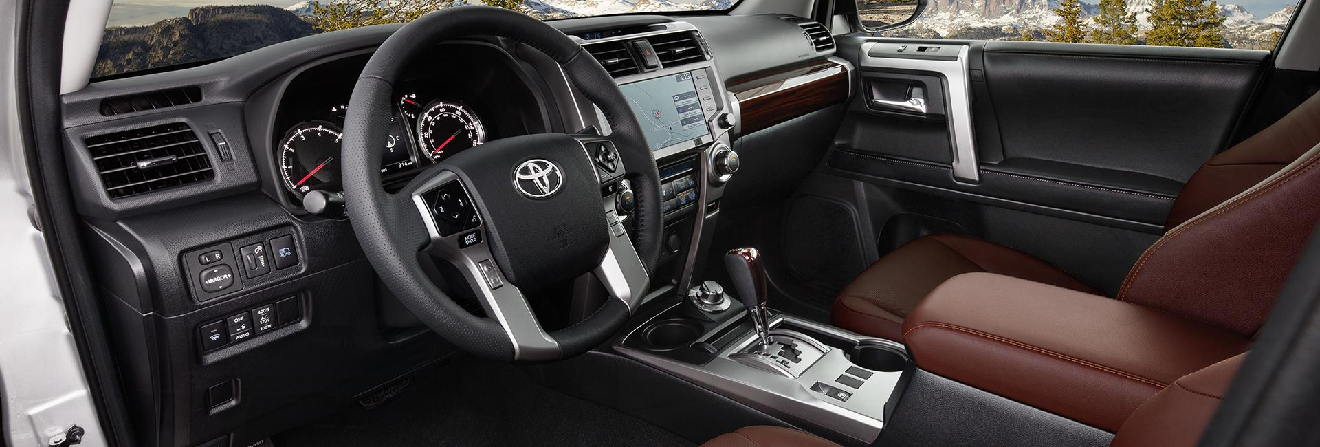 Picture of the interior of the 2020 Toyota 4Runner for sale at Spitzer Toyota