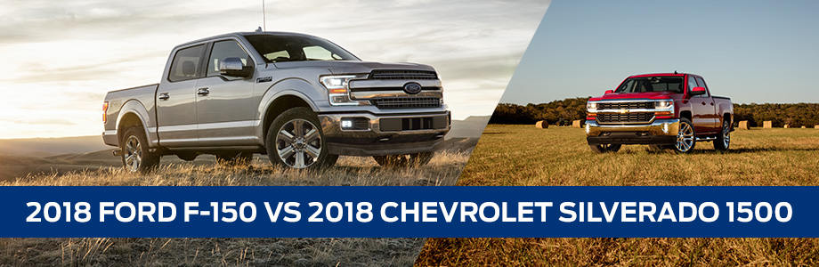 The 2018 Ford F-150 Vs 2018 Chevy Silverado 1500 available at Coccia Ford Lincoln in Wilkes-Barre, PA