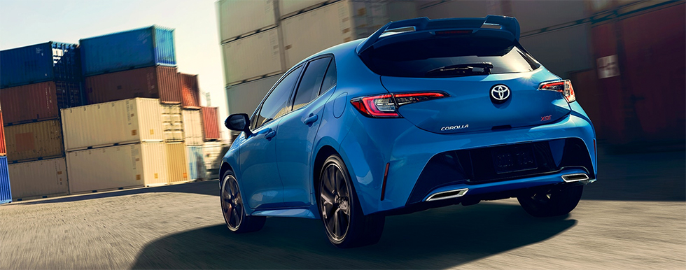 Exterior of the 2019 Toyota Corolla Hatchback is available at our Toyota dealership in Fort Lauderdale, FL.