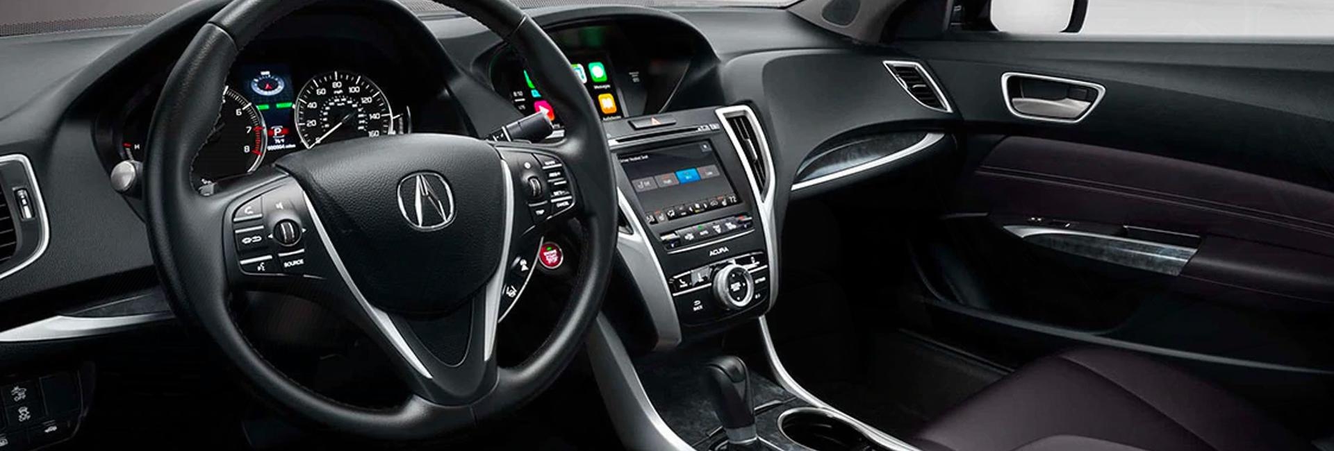 Picture of the interior of the 2020 Acura TLX for sale at Spitzer Acura in McMurray PA.