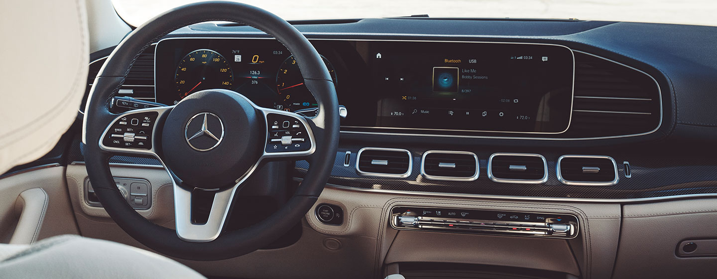 Safety features and interior of the 2020 Mercedes-Benz GLE - available at our Mercedes-Benz dealership near Augusta, GA.