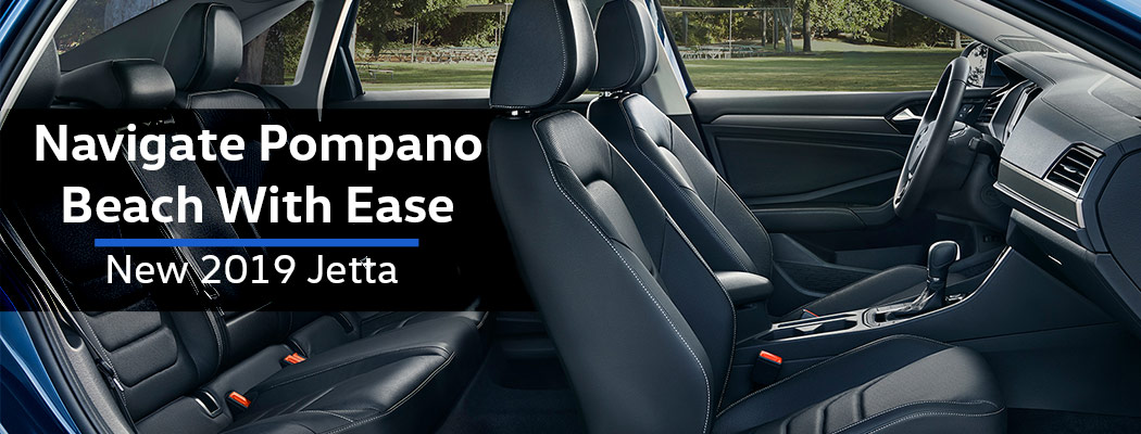 Safety features and interior of the 2019 Volkswagen Jetta - available at Vista Volkswagen Pompano Beach near Coconut Creek and Pompano Beach, FL