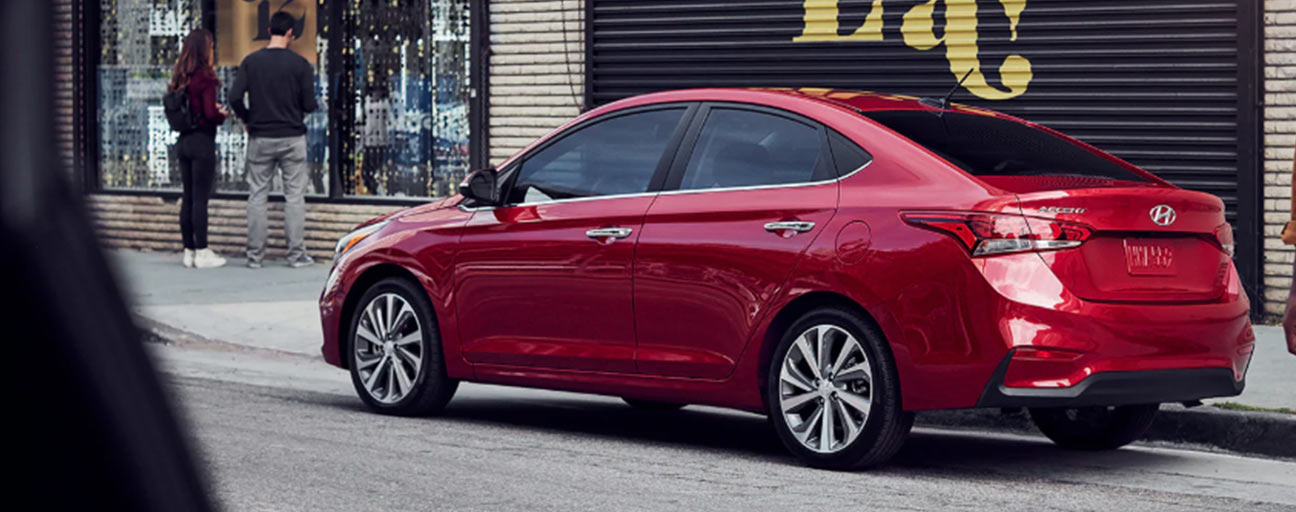 2019 Hyundai Accent parked