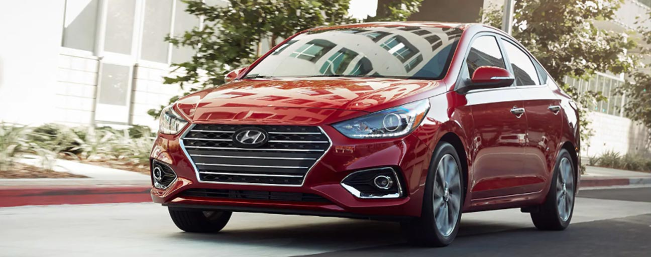 2019 Hyundai Accent front driving