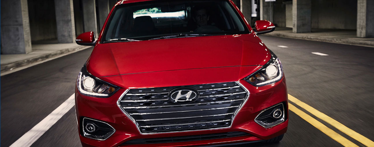 2019 Hyundai Accent front view drving