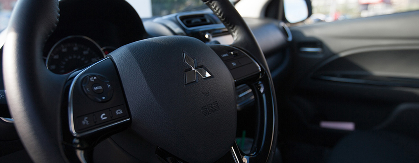 Picture of the interior of the 2019 Mitsubishi Mirage G4  for sale at Gainesville Mitsubishi dealership in Gainesville Florida