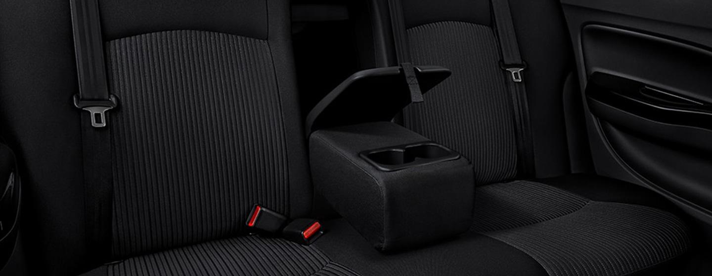 2019 Mitsubishi Mirage G4 rear seating interior view.