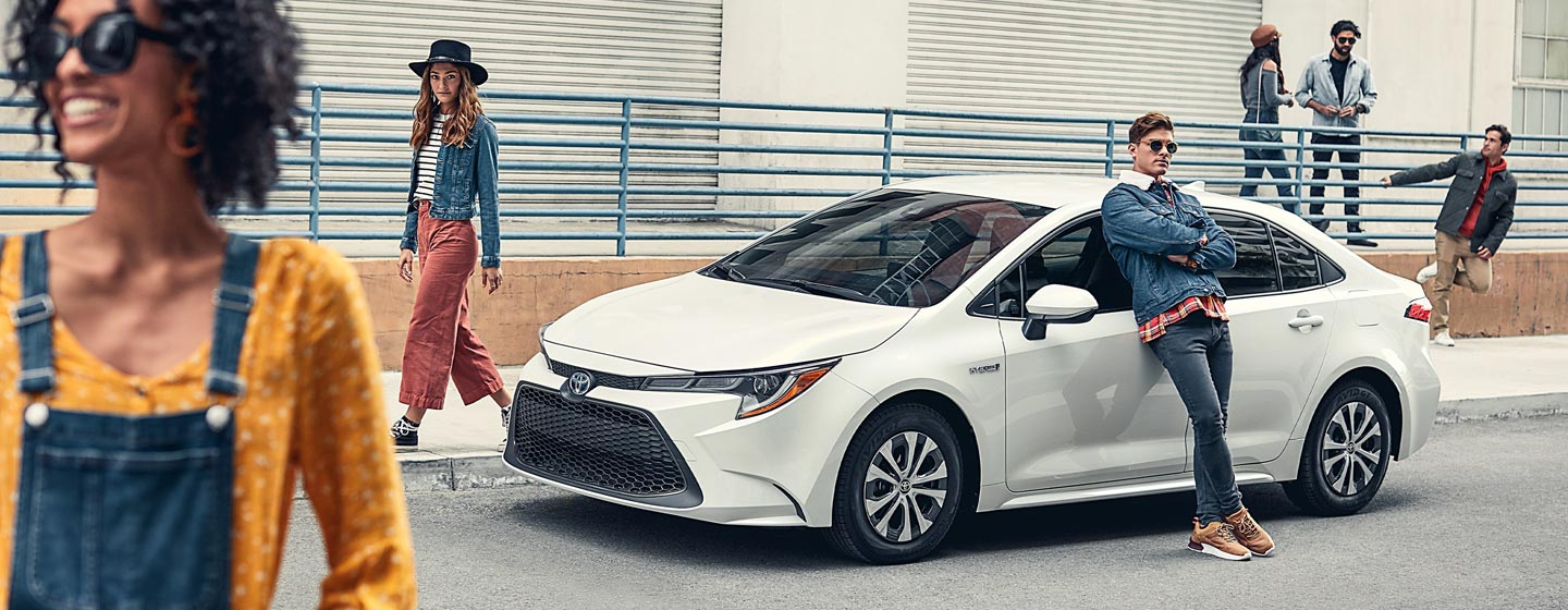2020 Toyota Corolla Exterior - Parked with man leaning against the car