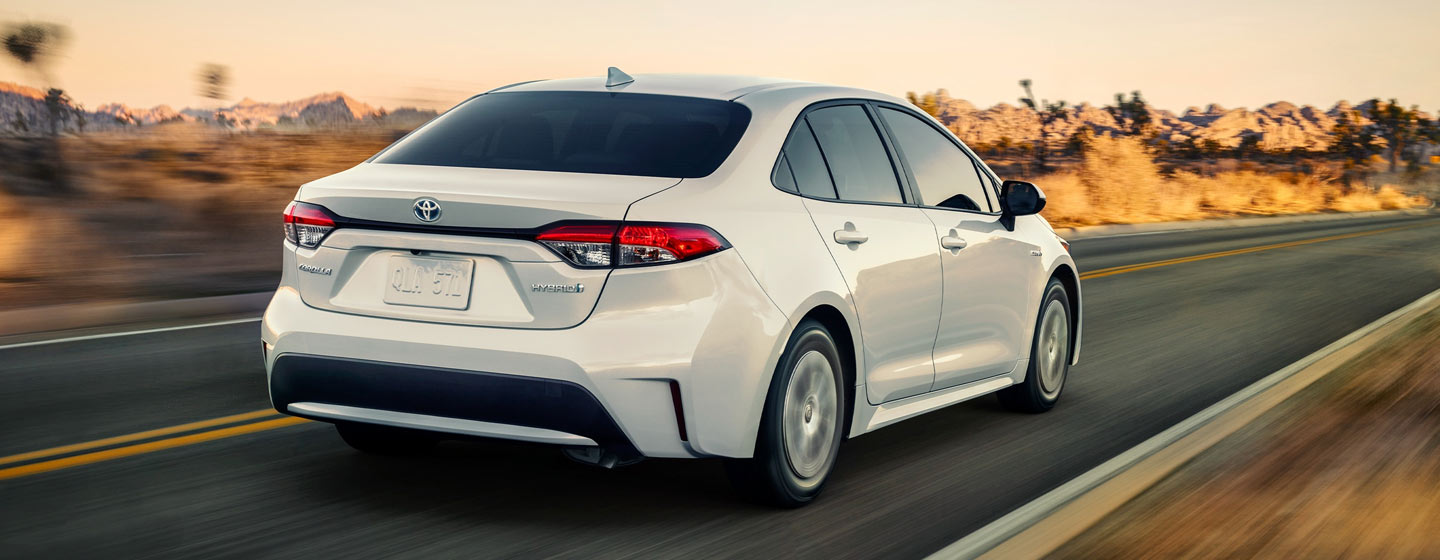 2020 Toyota Corolla Exterior - Rear View - Driving on the road