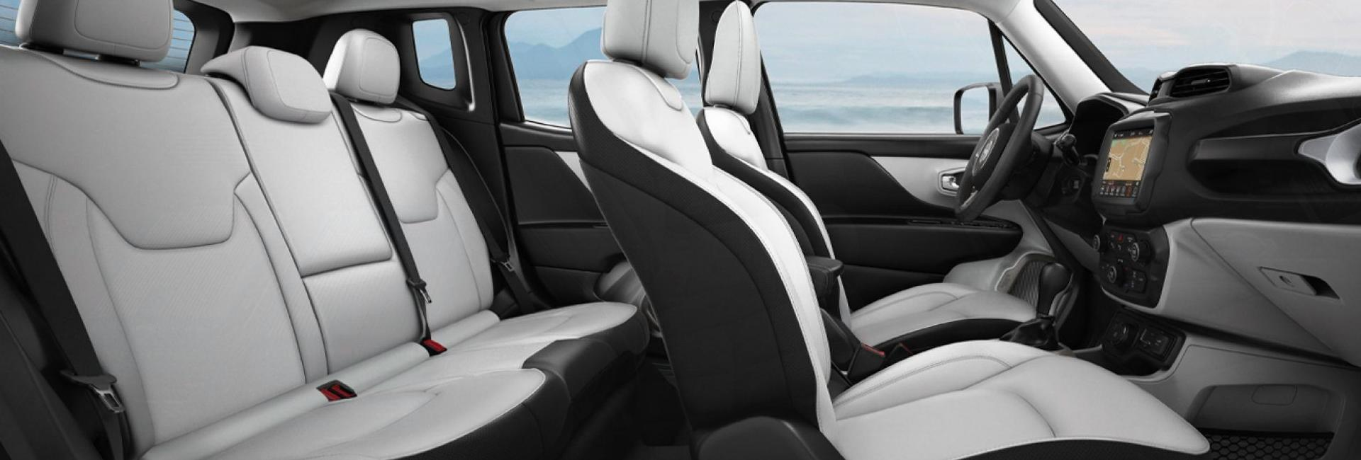 Interior image of the 2020 Jeep Renegade.