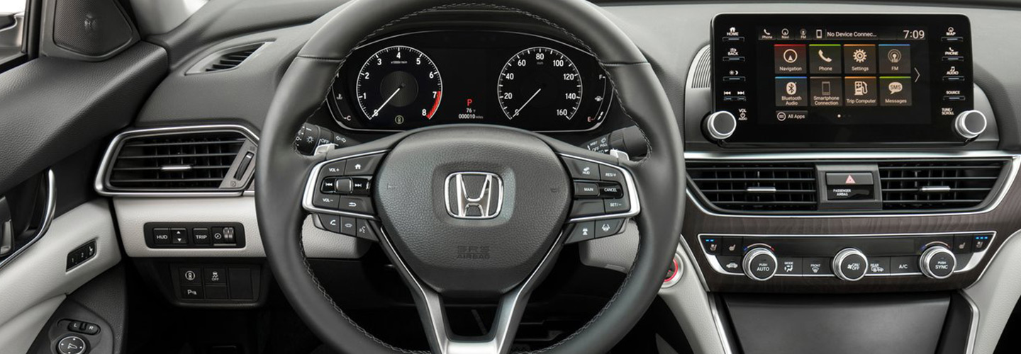 Safety features and interior of the 2019 Honda Accord - available  at Wright Honda in Uniontown, PA.