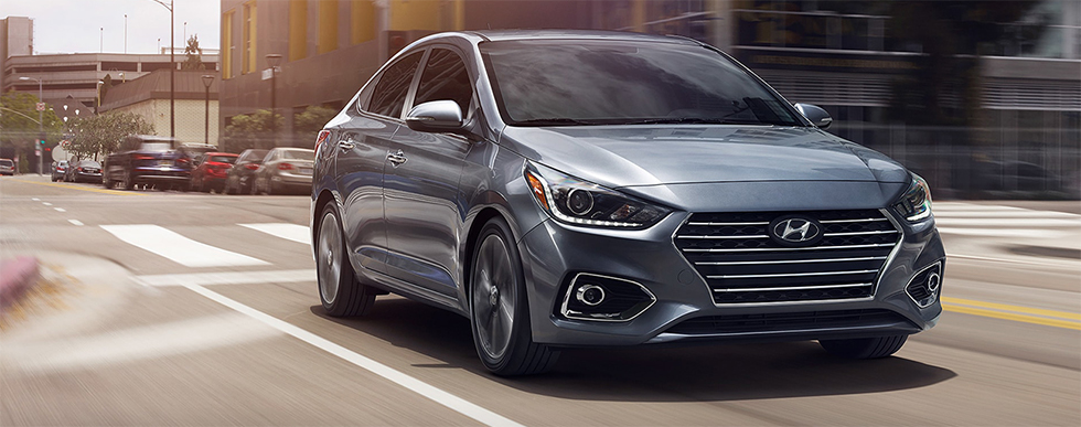 Exterior of the 2019 Hyundai Accent for sale at our Hyundai dealership in Reno