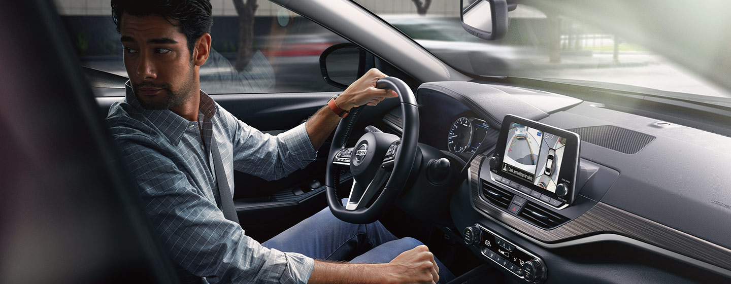 Safety features and interior of the 2019 Nissan Altima- available at our Nissan Dealer near Oklahoma City.