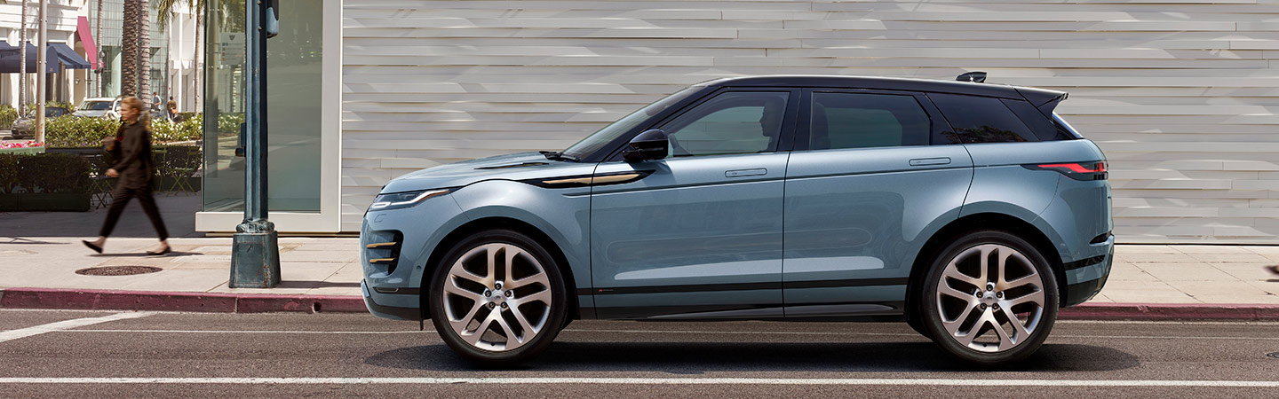 2020 Range Rover Evoque parked in city