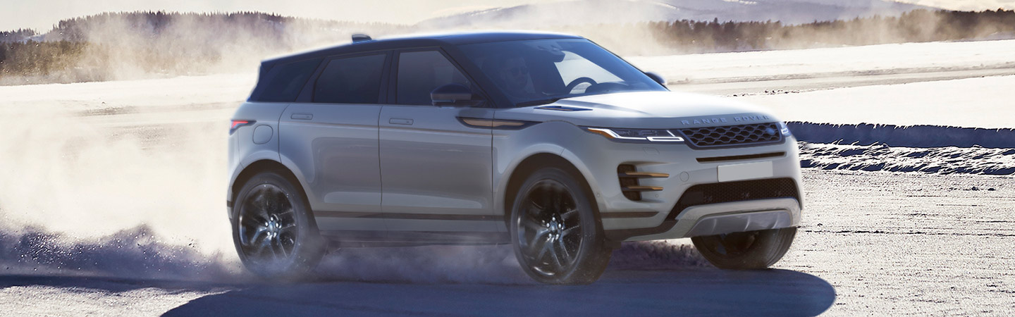 2020 Range Rover Evoque Driving Through The Snow