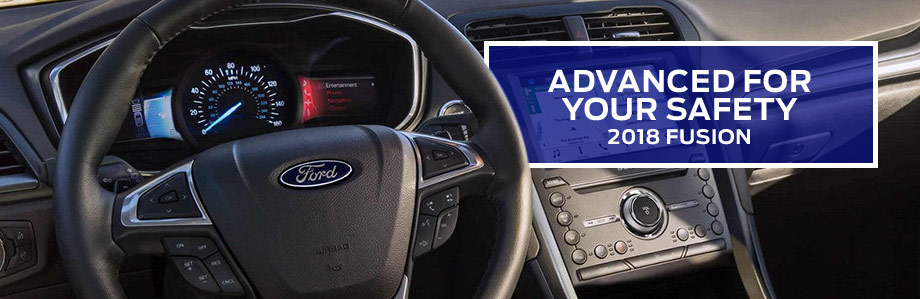 Safety features and interior of the 2018 Ford Fusion - available at Ford of Port Richey near Lutz and Land O' Lakes, FL