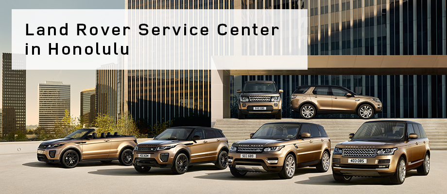 The Land Rover Service Center at Velocity Honolulu on the island of O'ahu, HI
