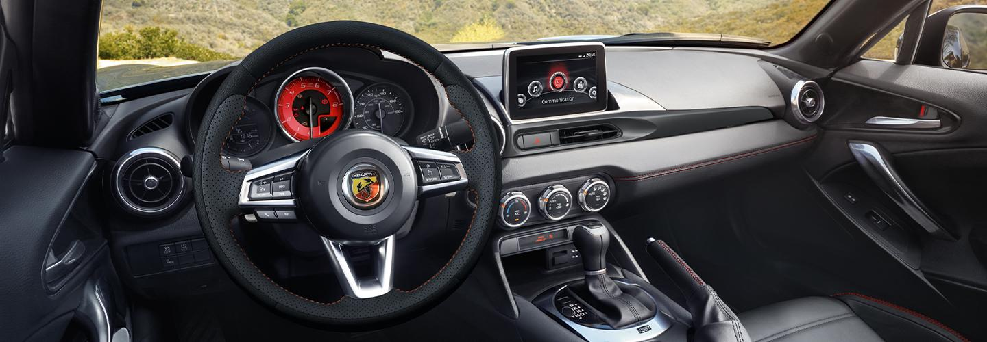 Interior features in the 2020 FIAT 124 Spider