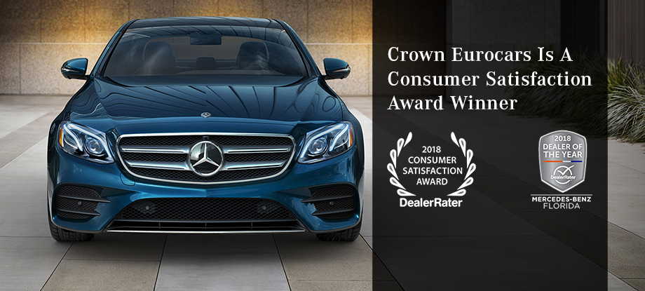 2018 Consumer Satisfaction Award | Crown Eurocars | The Better Way to Buy