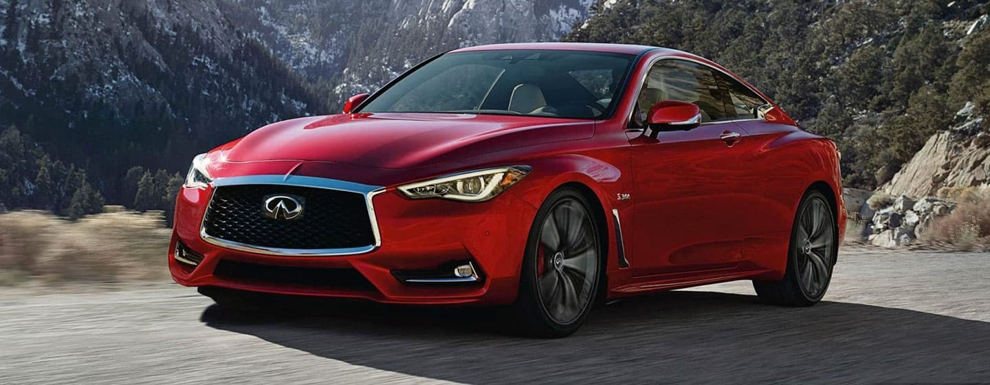 2019 INFINITI Q60 Exterior - Side and Front View - Driving.