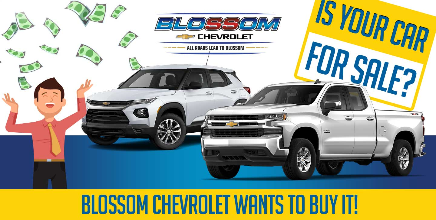 Blossom Chevrolter Wants To Buy Your Car!