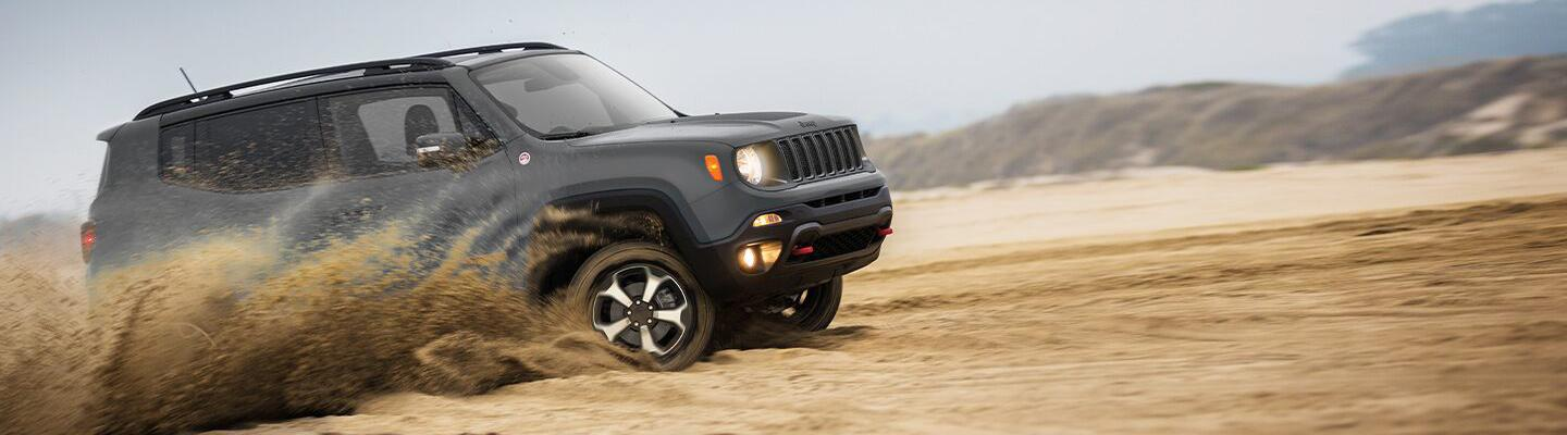 2020 Jeep Renegade for lease at Spitzer Jeep dealer in Homestead, Florida.
