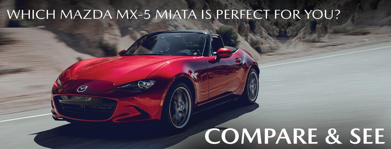 Which Mazda MX-5 Miata Is Perfect For You? | Compare & See