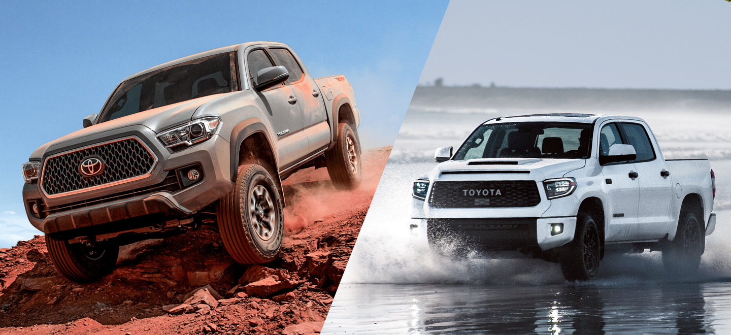 Compare the 2019 Toyota Tacoma to the 2019 Toyota Tundra at Toyota of Rock Hill near Charlotte, NC.