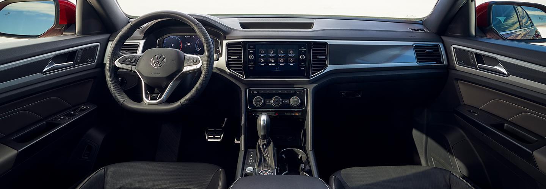 Full interior view of the 2021 VW Atlas Cross Sport
