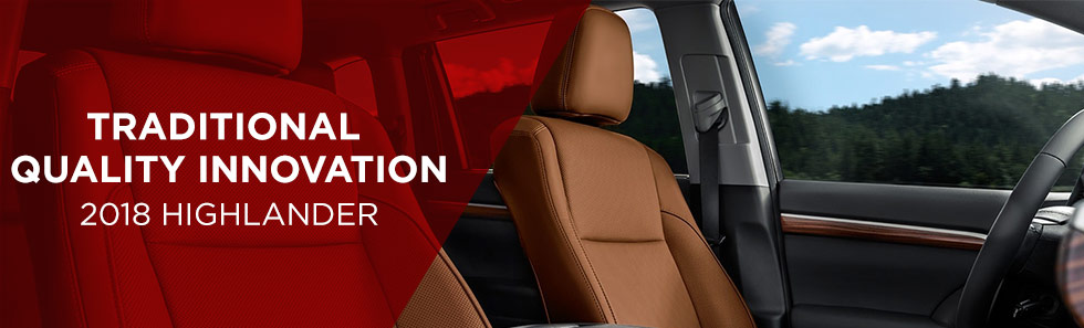 Safety features and interior of the 2018 Toyota Highlander - available at World Toyota near Alpharetta and Atlanta, GA