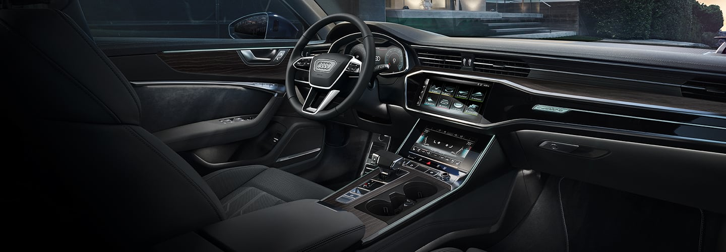 Interior features in the 2020 Audi A6
