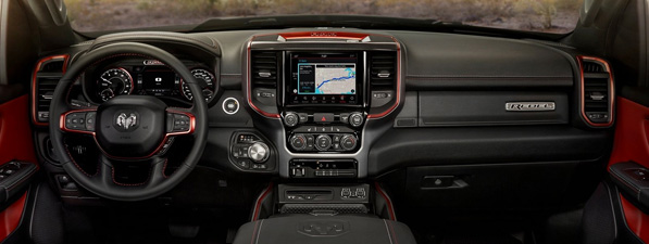 Safety features and interior of the 2019 RAM 1500 - available at Southern Dodge Chrysler Jeep Ram near Norfolk, VA