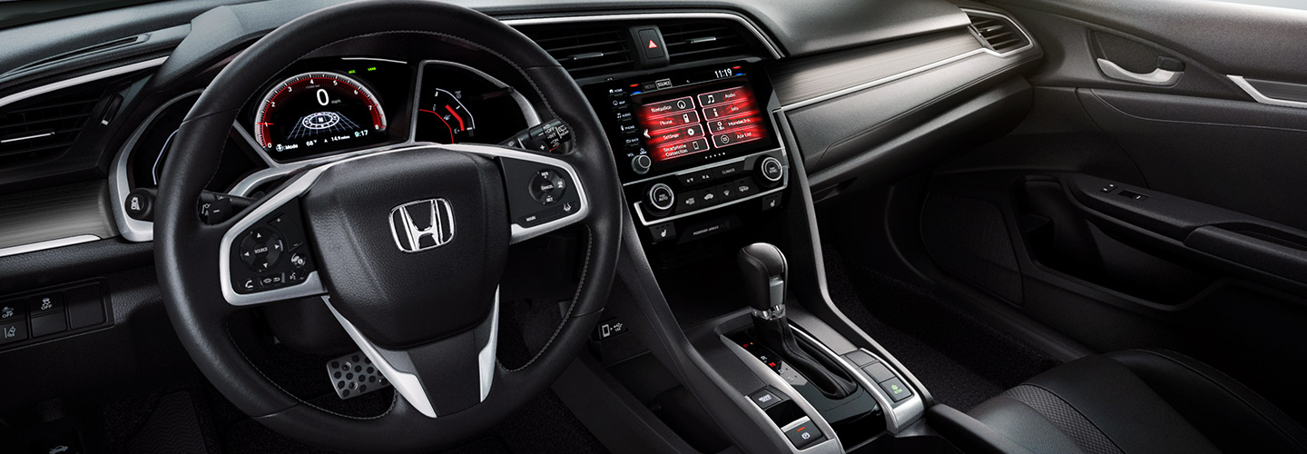 Safety features and interior of the 2019 Civic