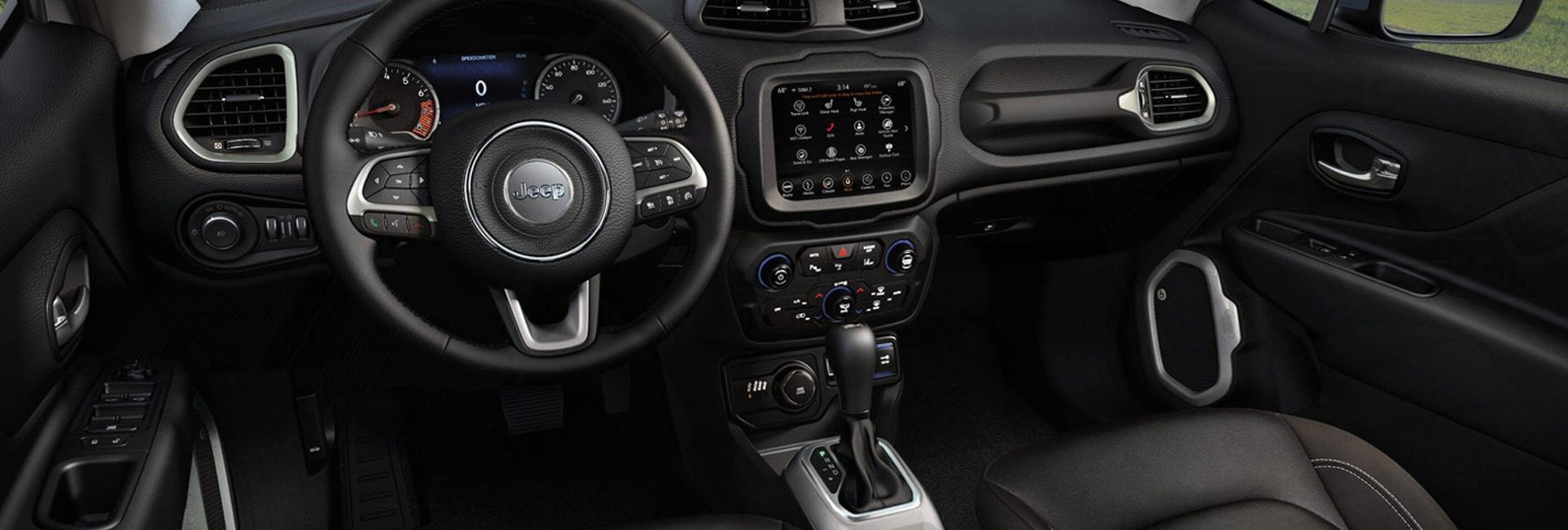 Interior view of the 2020 Renegade
