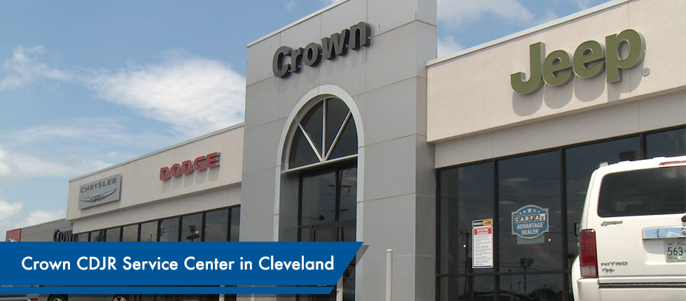 The Crown Chrysler Dodge Jeep Ram service department in Cleveland, TN servingAthens and Dayton.